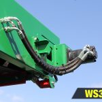 Wheeled stacker delivers high stockpiles with the 50' conveyor length on the WS3250.