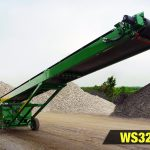 WS3250 Stacker stockpiles material efficiently